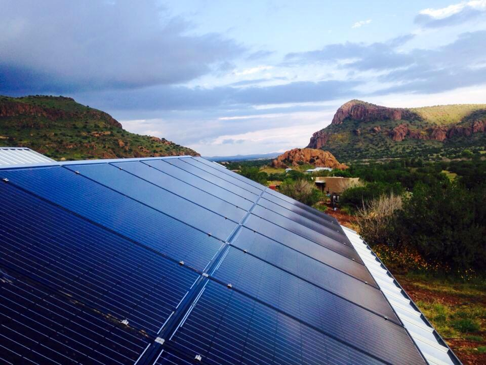 Off Grid Hardware solar installation, Alpine TX