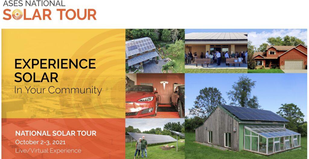 2021 ASES National Solar Tour flyer