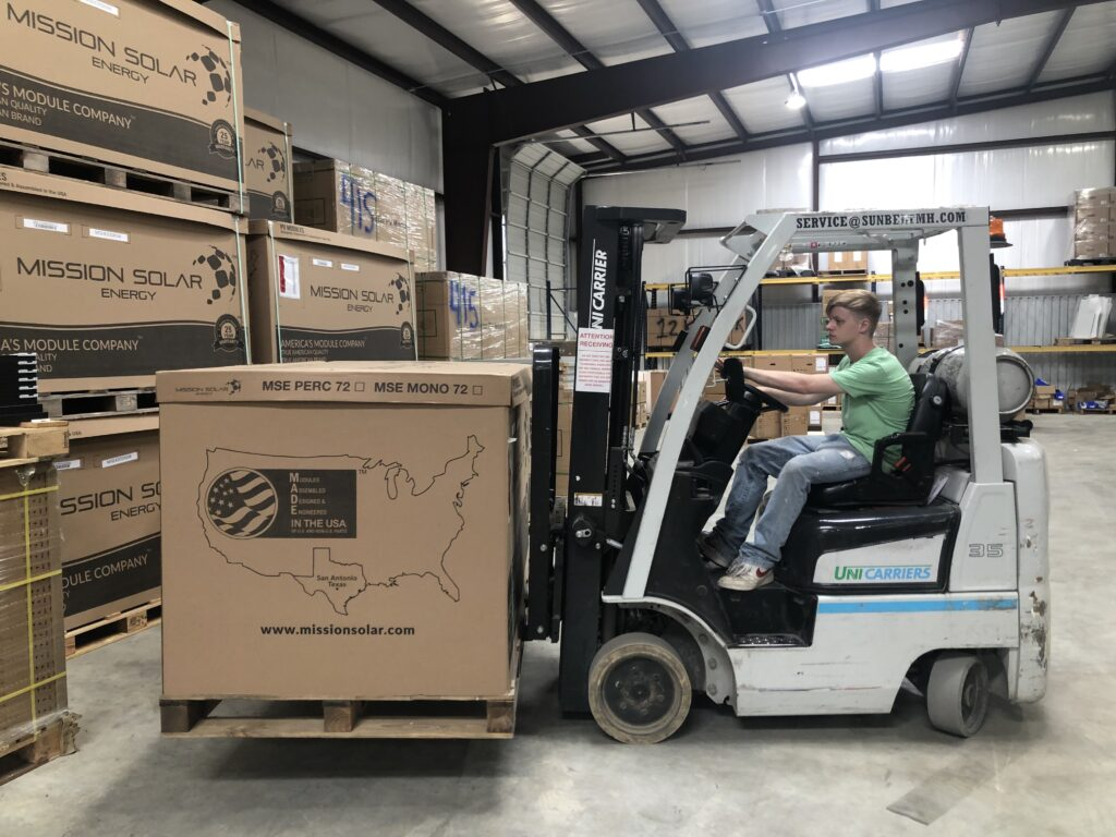 The PowerStore forklift driver